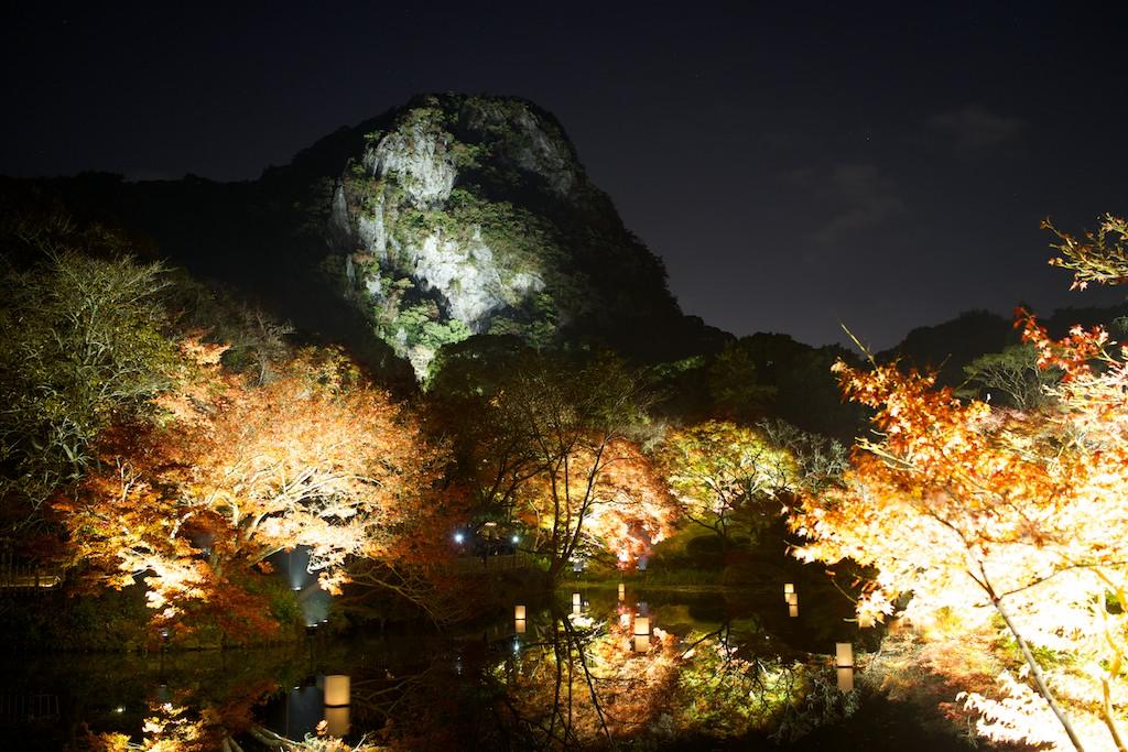 御船山楽園紅葉ライトアップ