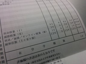 成績通知表